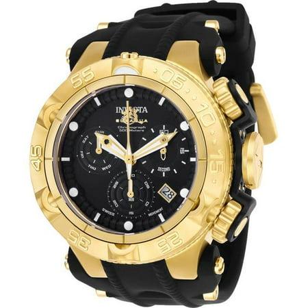 Invicta 25354 Mens Subaqua Quartz Chronograph Black Dial Watch with Black & Gold Tone - image 1 of 1