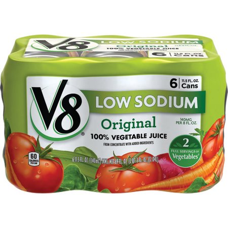 (12 cans) V8 Original Low Sodium 100% Vegetable Juice, 11.5 (Best Vegetables To Juice For Cancer)