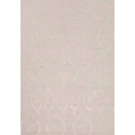 damask pattern ivory white polyester area rug 5x7 6