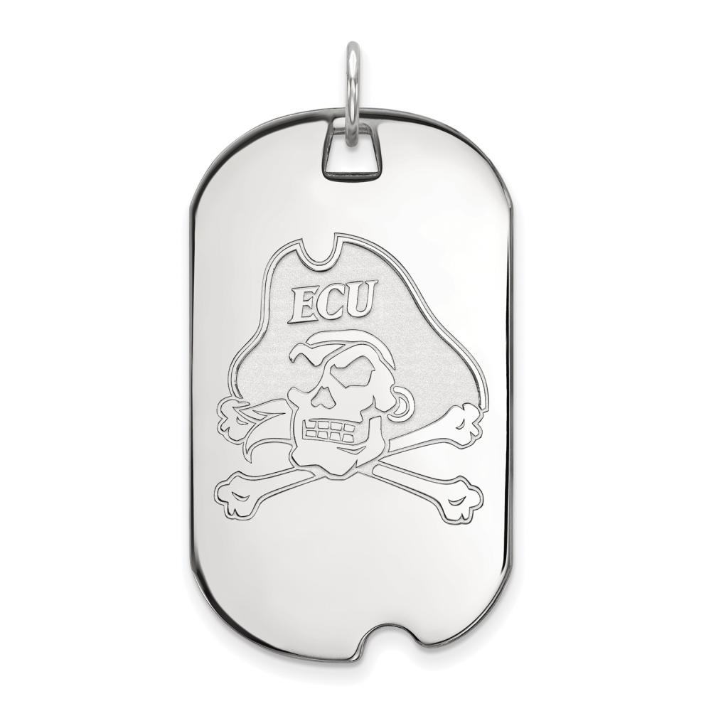 East Carolina Large (3/4 Inch) Dog Tag (Sterling Silver)