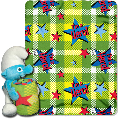 Sony Smurfs I'm a Hero Fleece Hugger