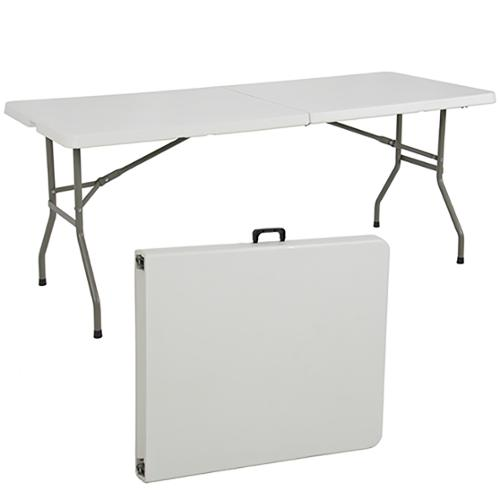 Folding Table 6 Portable Plastic Indoor Outdoor Picnic