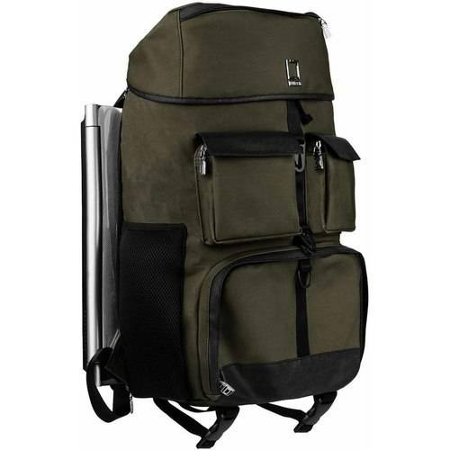 "LENCCA Logan Professional Travel Twill Laptop / Camera Hybrid Backpack Fits 13, 14, 15.6, 17"" Laptops / Ultrabooks"