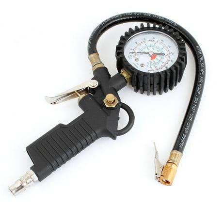 auto car tire air pressure gauge meter inflator gun flexible hose. Black Bedroom Furniture Sets. Home Design Ideas