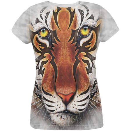 Tribal Tiger All Over Womens T-Shirt ()