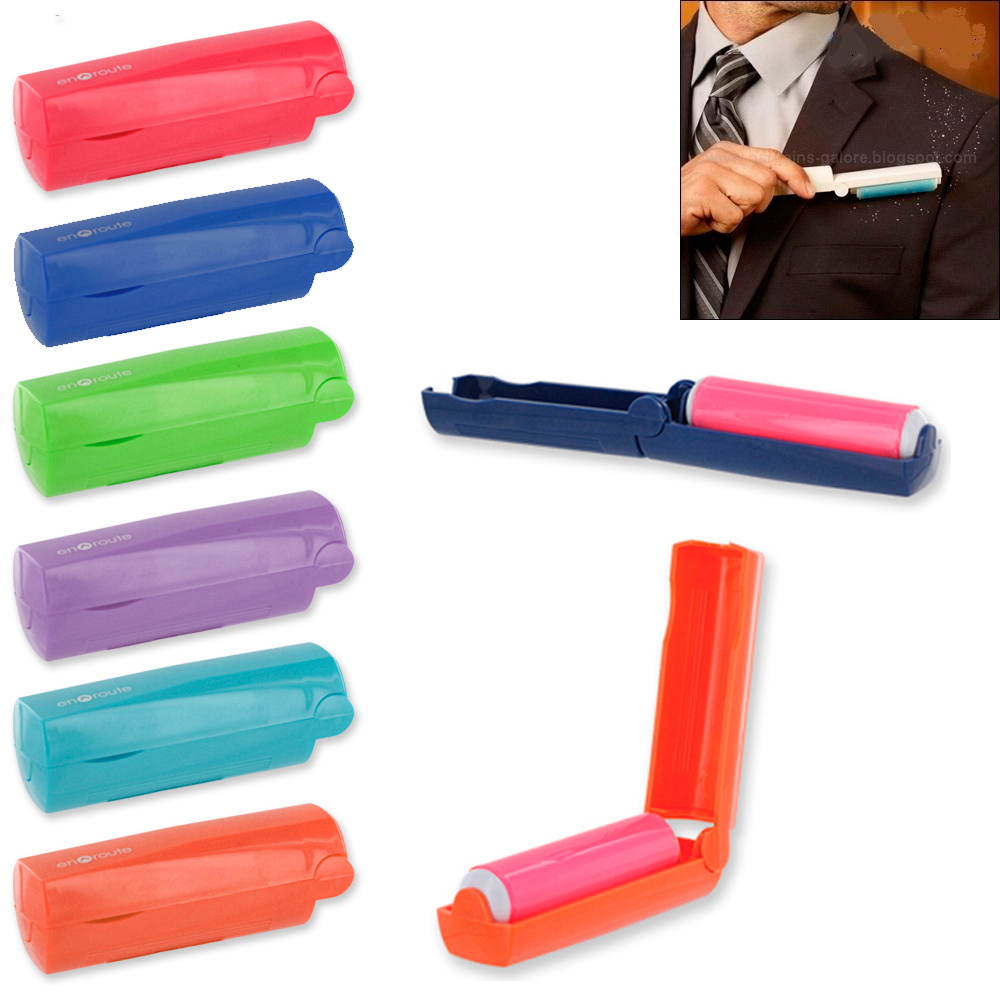 1 Pc Mini Lint Roller Brush Folding Small Travel Purse Hair Fabric Remover Dust