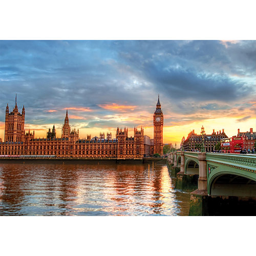Sunset on the River Thames 1000 Piece Puzzle,  Landscapes by Educa
