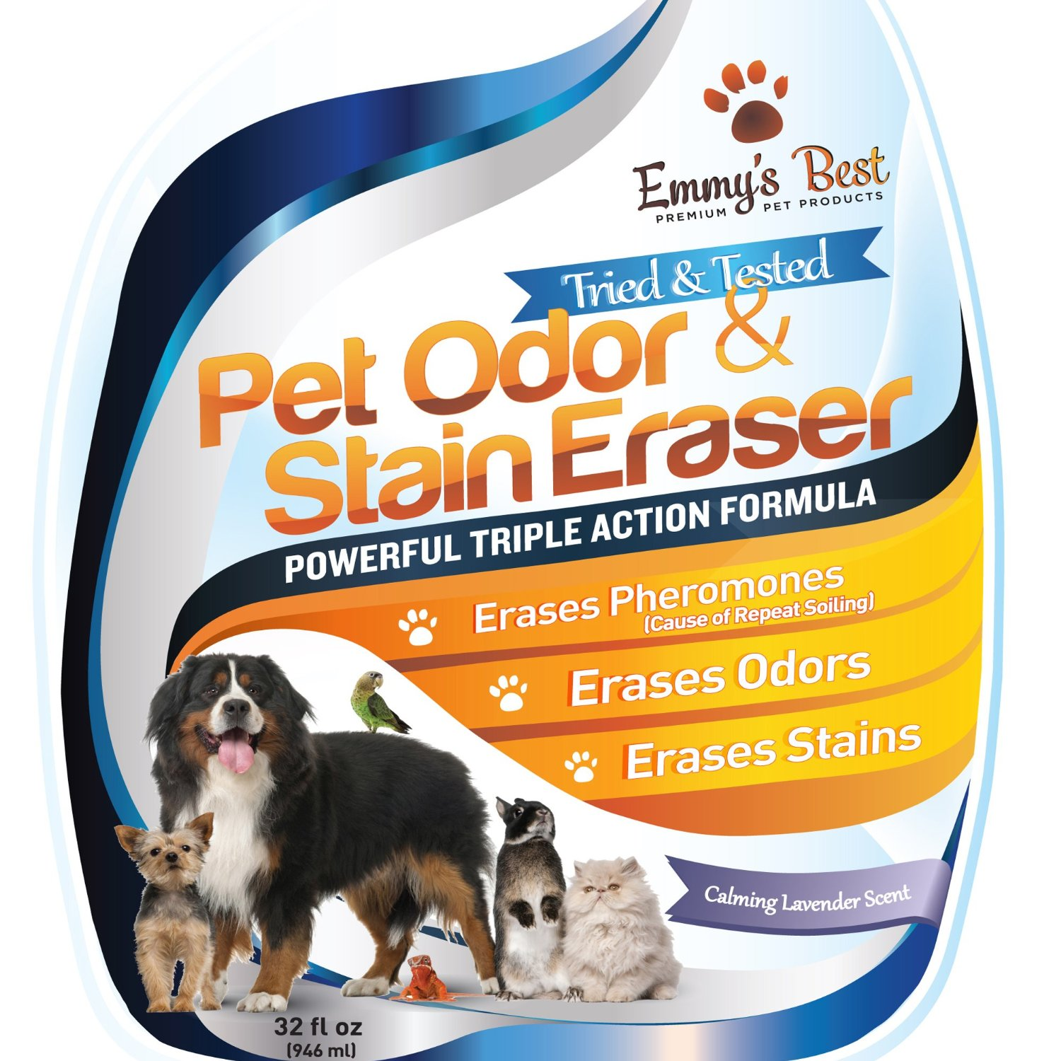BIG 32oz Premium Pet Odor Eliminator & Urine Remover - Eliminates Tough Stains & Powerful Od