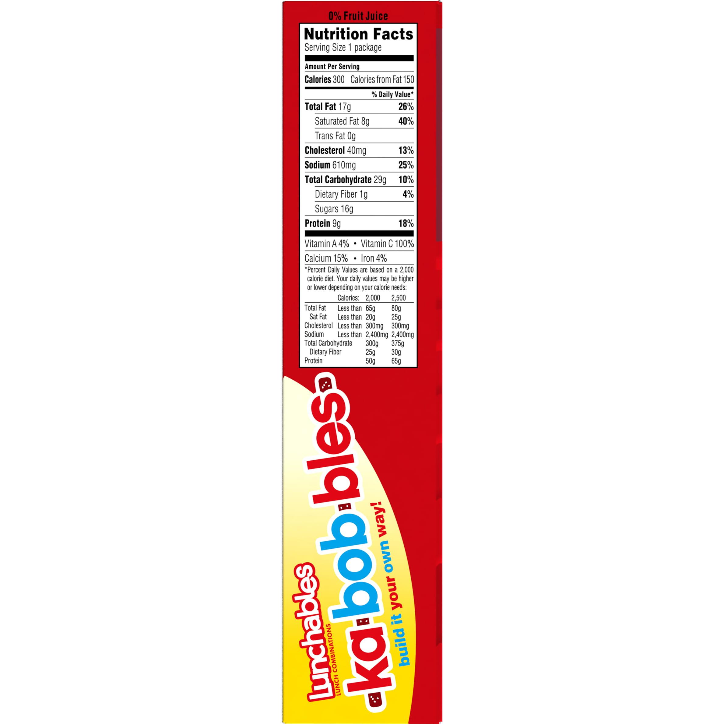 Lunchables Pizza Kabobbles, 8 oz Box