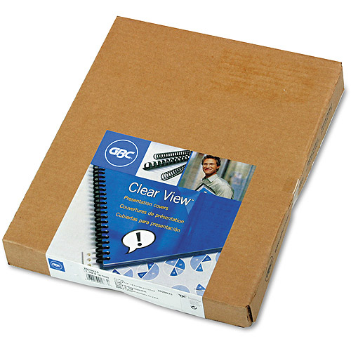 GBC Clear View Presentation Binding System Cover, 8 1/2 x 11, Clear, 100/Box