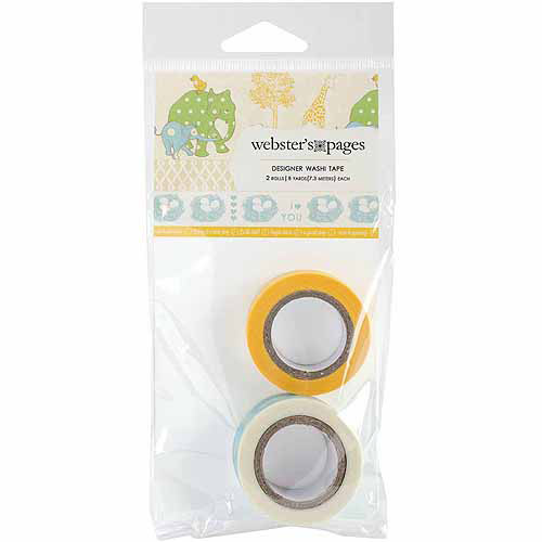 Webster's Pages New Beginnings Washi Tape, 2 Rolls/pkg
