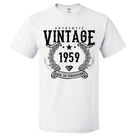 60th Birthday Gift For 60 Year Old 1959 Aged To Perfection T Shirt