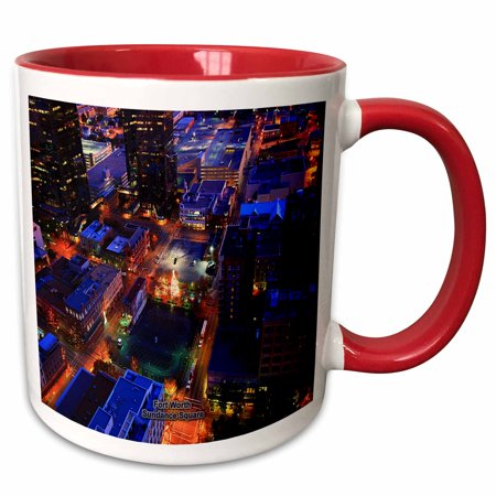 3dRose Fort Worth Sundance Square - Two Tone Red Mug, 11-ounce - Halloween Sundance Square