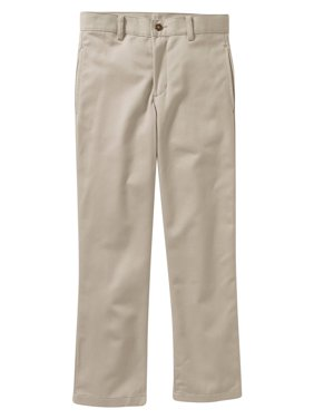 George Boys School Uniform Slim Flat Front Twill Pant With Scotchguard (Little Boys & Big Boys)