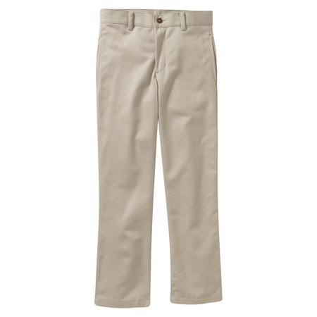 George Boys School Uniform Slim Flat Front Twill Pants With Scotchguard (Little Boys & Big Boys)