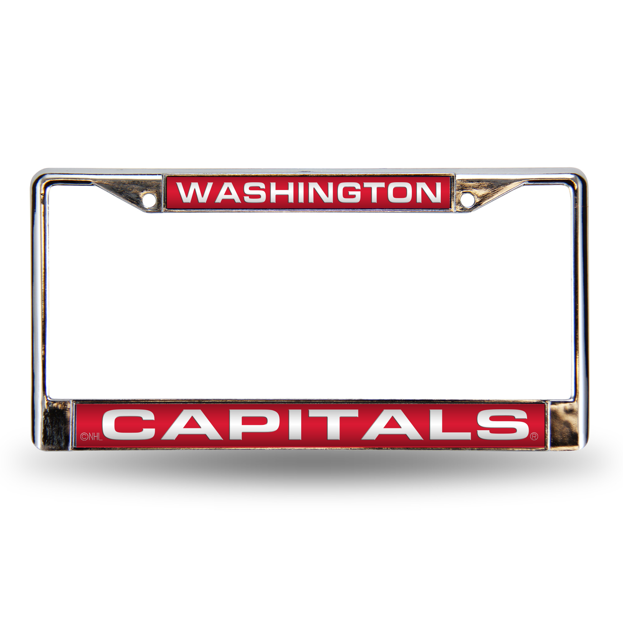 Washington Capitals Official NHL 12 inch x 6 inch  Metal License Plate Frame by Rico Industries