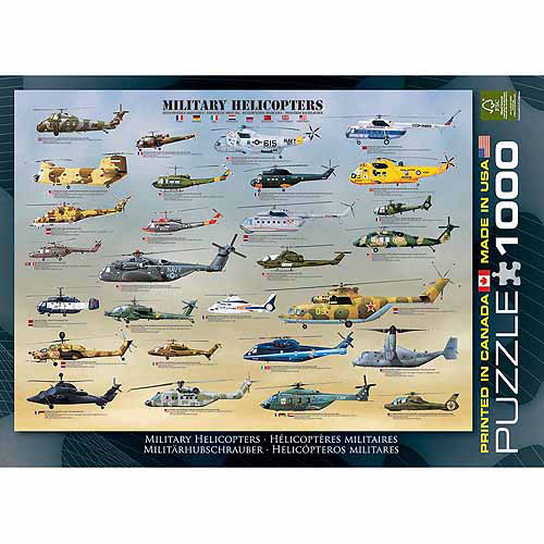 EuroGraphics Military Helicopters 1000-Piece Puzzle by Generic