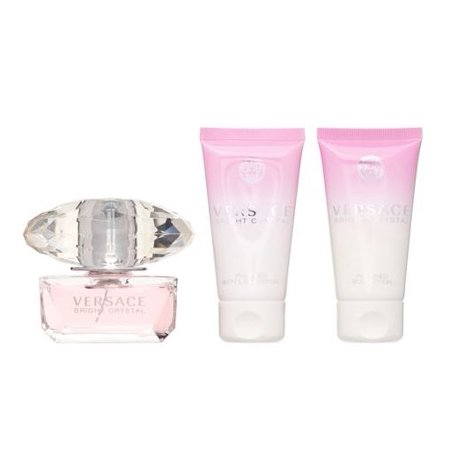 Versace Bright Crystal Perfume Gift Set For Women, 3 (Edt Perfume Gift Set)
