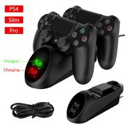 PS4 Controller Charger, EEEkit Dual Shock 4 Controller USB Charging Docking Station with LED Light Indicators Compatible with PS4/PS4 Slim/PS4 Pro Controller, Sony Playstation4