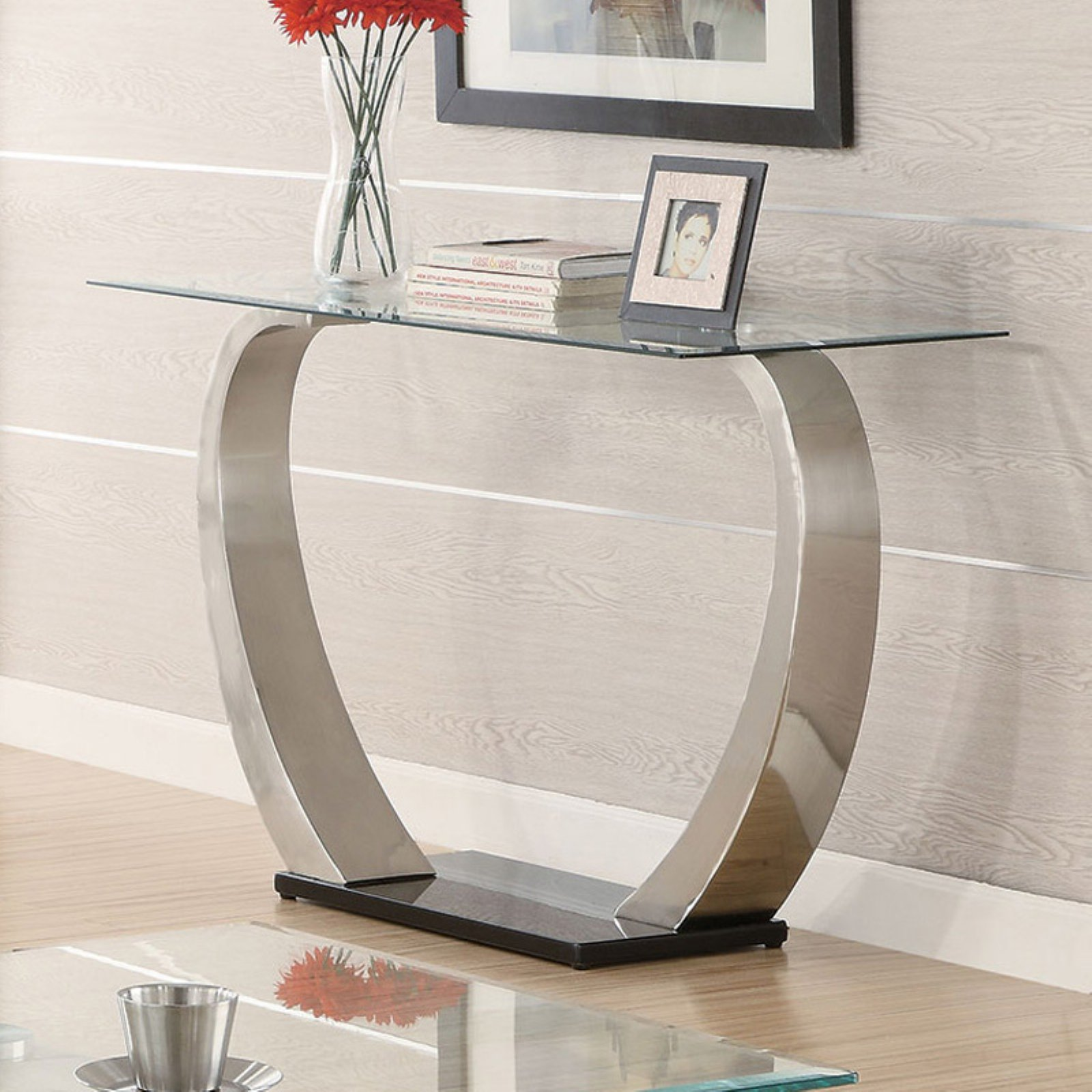 Coaster Furniture Glass Top Console Table
