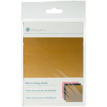 Silhouette Curio Metal Etching Sheets 5 Quot X7 Quot 3 Pkg Black