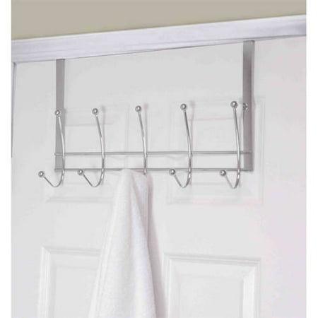 Home Basics 5-Hook Chrome Plate Steel Hanging Rack