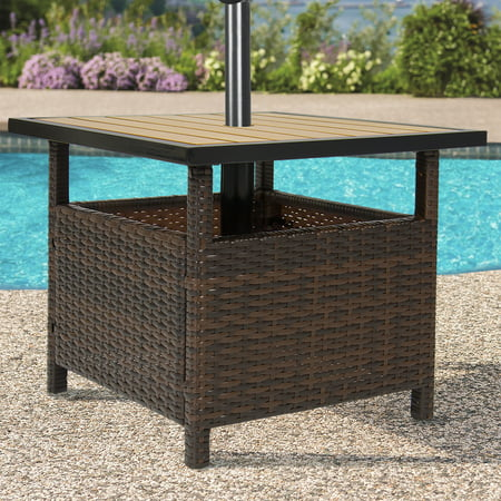 best choice products outdoor furniture wicker rattan patio umbrella Best Umbrella Stand