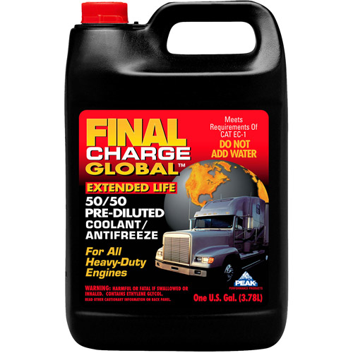 Peak Final Charge 50/50 Pre-Diluted Global Extended Life Anti-Freeze