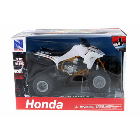 Honda Diecast Model (Honda TRX450R, White - New Ray 57473 - 1/12 Scale Diecast Model Toy)