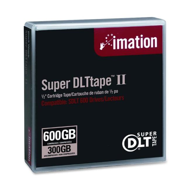 "imation 1/2"" Super DLT II Cartridge, 2066ft, 300GB Native/600GB Compressed Capacity"