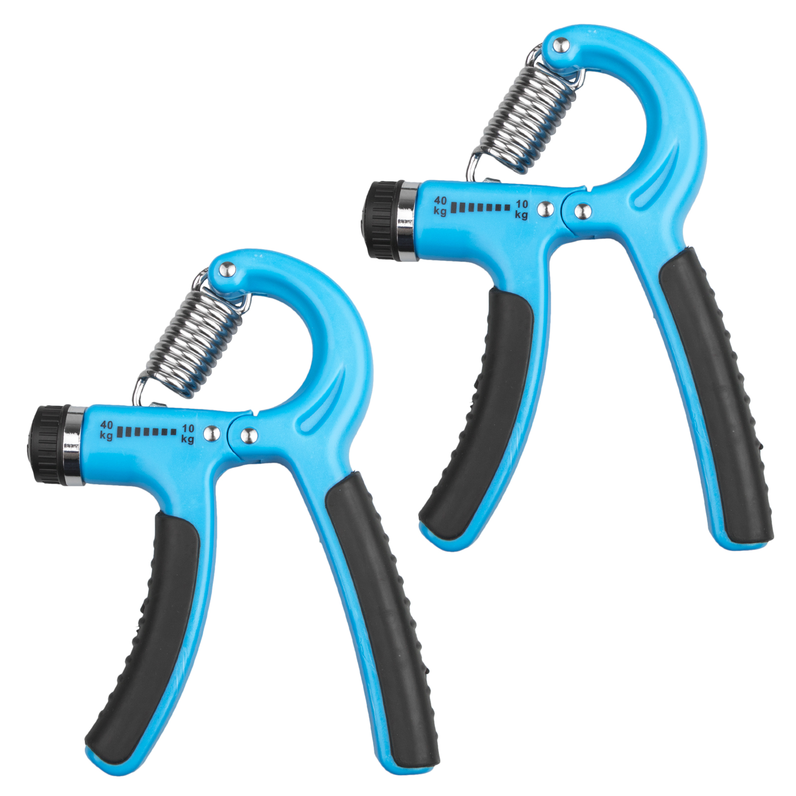 2-Pack Different Resistance (22-88 Lbs/11-132 Lbs) Hand Grip Strengthener Adjustable Strength Trainer for Men Forearm Grip Workout Non-Slip Gripper for Athletes Rock Climbers Kids etc