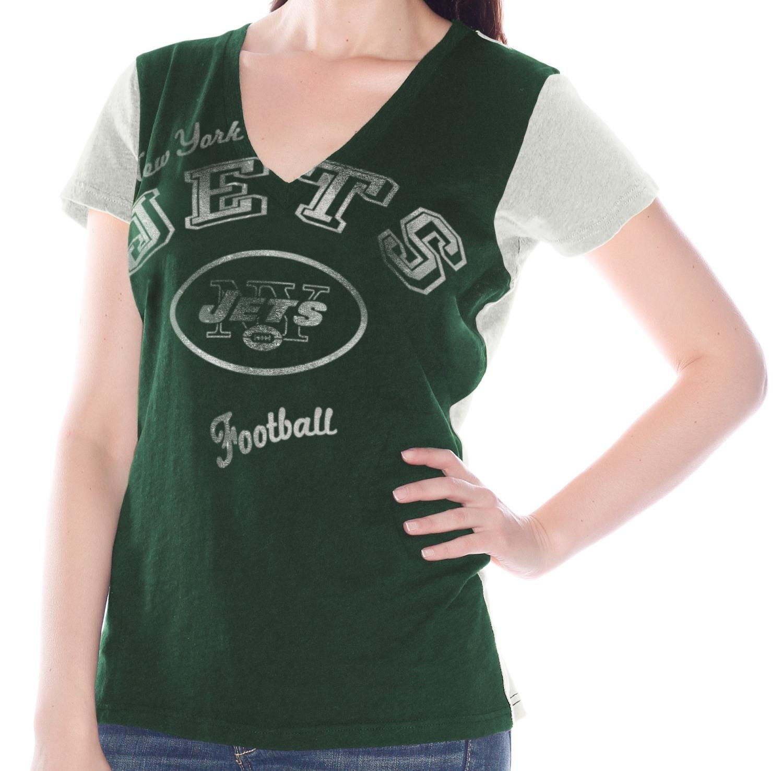 "New York Jets Women's G-III NFL ""Fair Catch"" V-neck T-shirt"