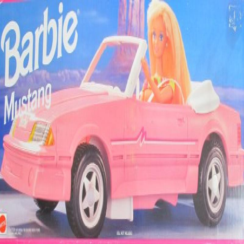 BARBIE MUSTANG Convertible VEHICLE CAR (1993 Arcotoys, Ma...
