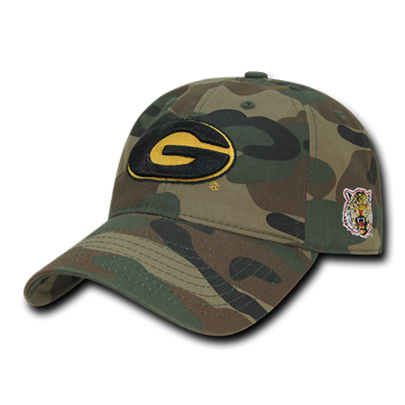 NCAA Grambling State Tigers U Relaxed Camo Camouflage Baseball Caps Hats