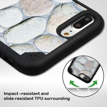 iPhone 7 Plus Case, by Insten Rocky Pebbles FreeStyle Challenger Hard Plastic/TPU Hybrid Shockproof Cover Case for Apple iPhone 7 Plus - Black - image 2 of 3