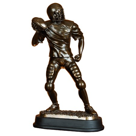 - Brown Polystone Football Player Beautifully Carved