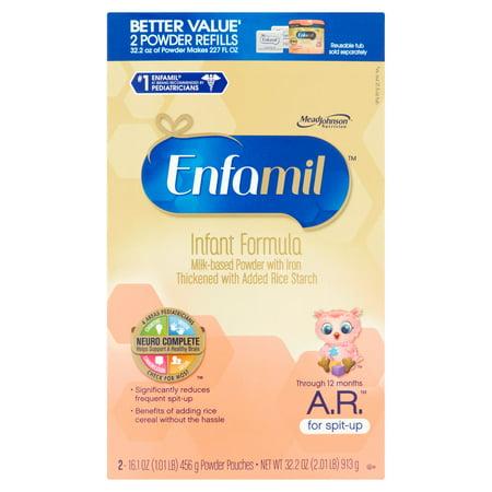 Enfamil A R  Milk Based Powder With Iron Infant Formula Through 12 Months 4 X 32 2Oz
