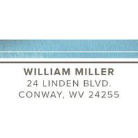 Graceful Script Personalized Address Label