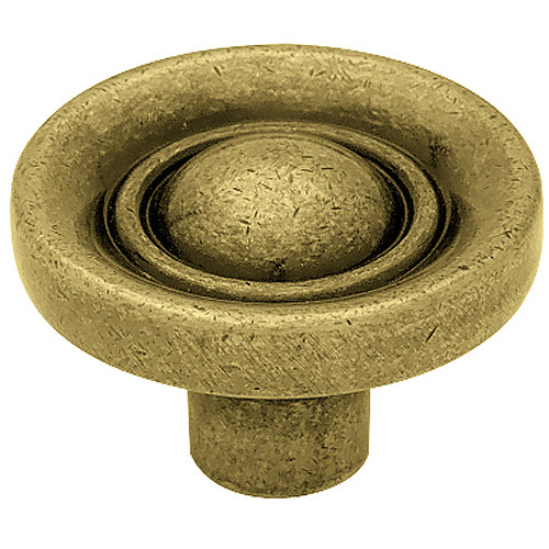 BRAINERD MFG CO/LIBERTY HDW - 1.25-In. Antique Elnglish Target Round Cabinet Knob
