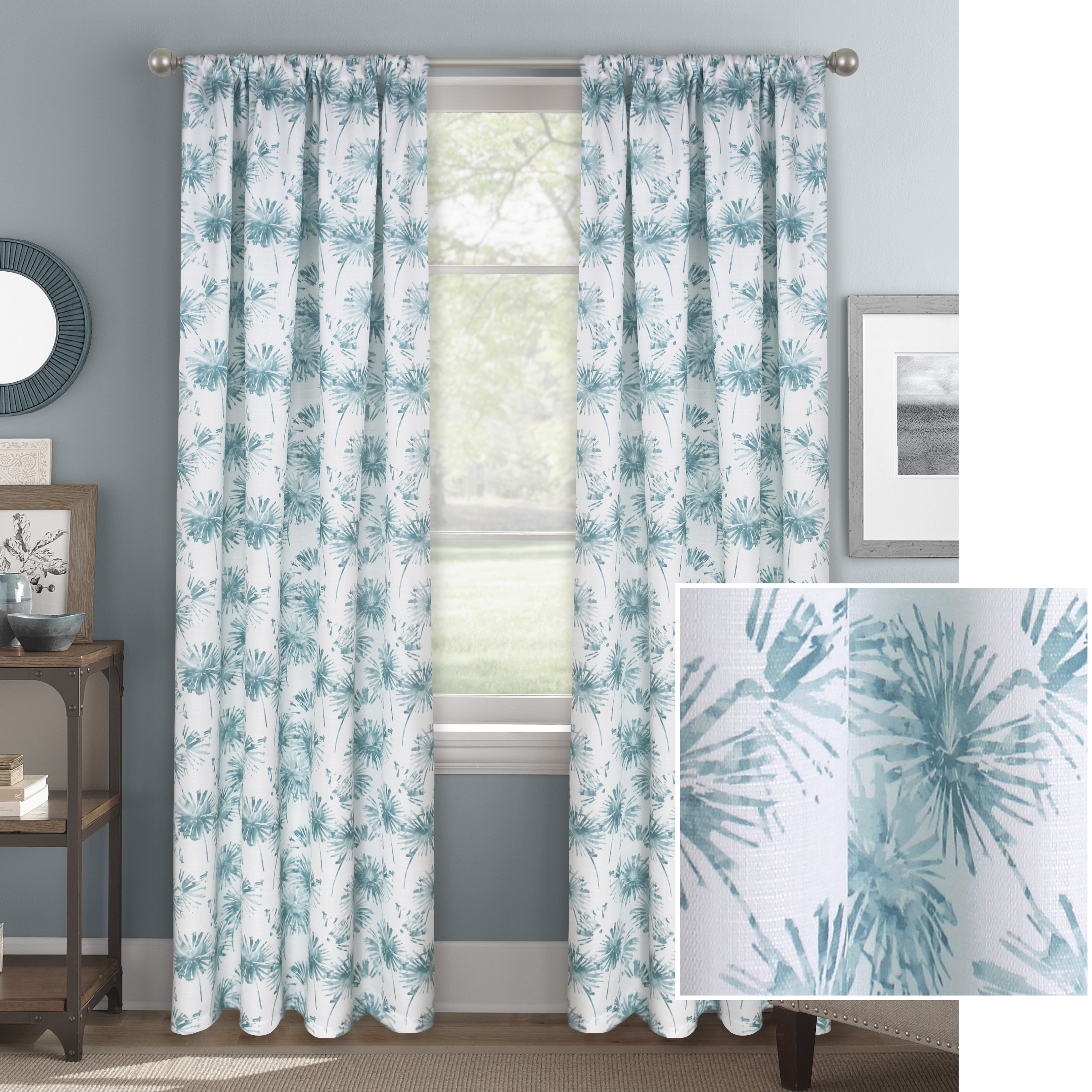 Better Homes & Gardens Dandelion Floral Window Curtain Panel