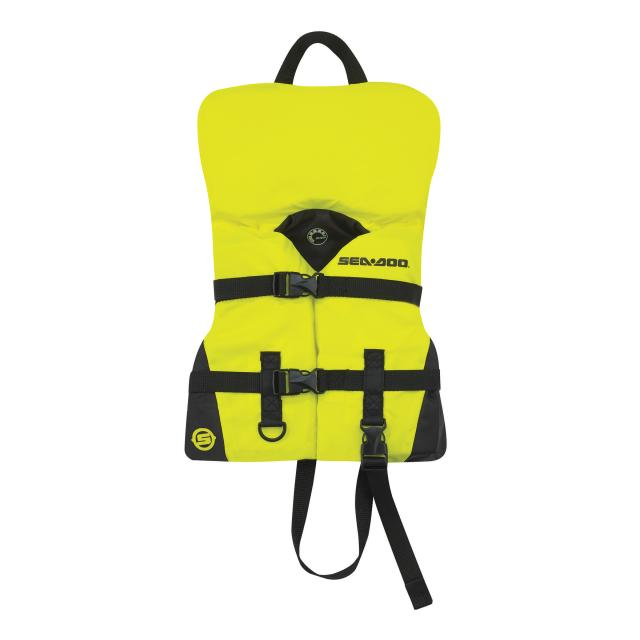 BRP SeaDoo Kids' Nylon Sandsea Life Jacket Vest PFD YELLOW by Sea-Doo
