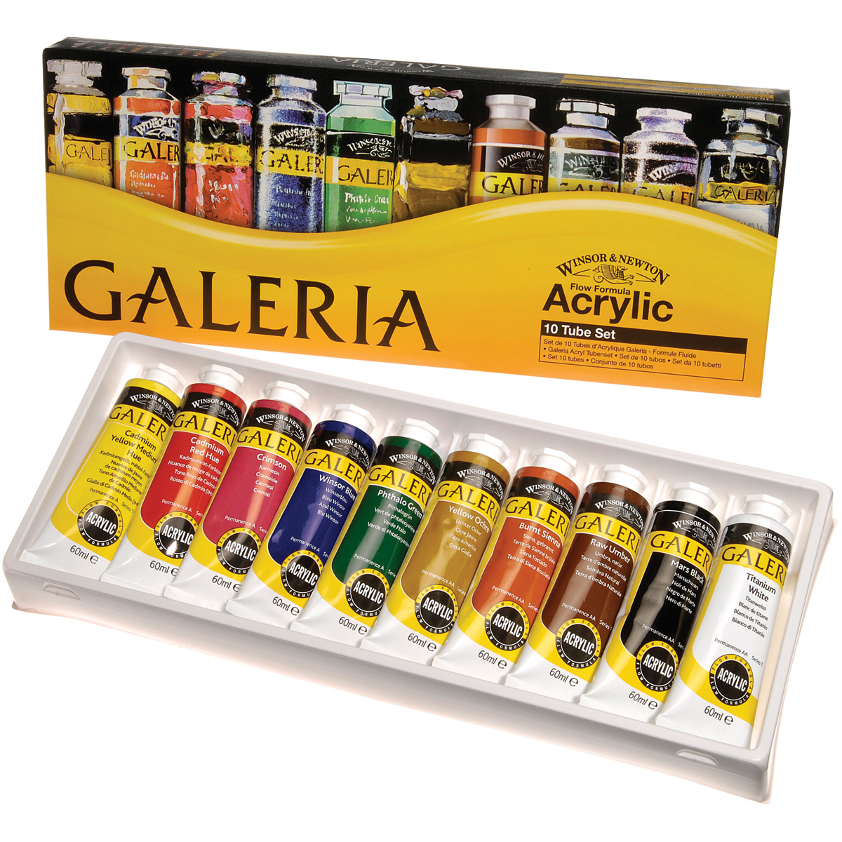 Winsor & Newton Galeria Acrylic Paint 60ml 10/Pkg-Assorted Colors