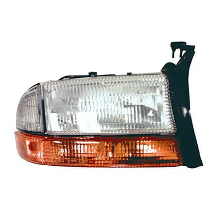 1998-2004 Dodge Dakota  Passenger Side Right Head Lamp Lens/Housing incl Parking Lamp V Dakota Passenger Side Headlamp