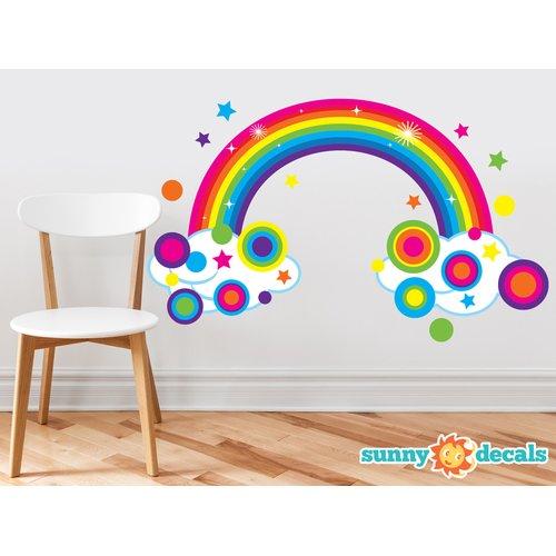Sunny Decals Rainbow Fabric Wall Decal