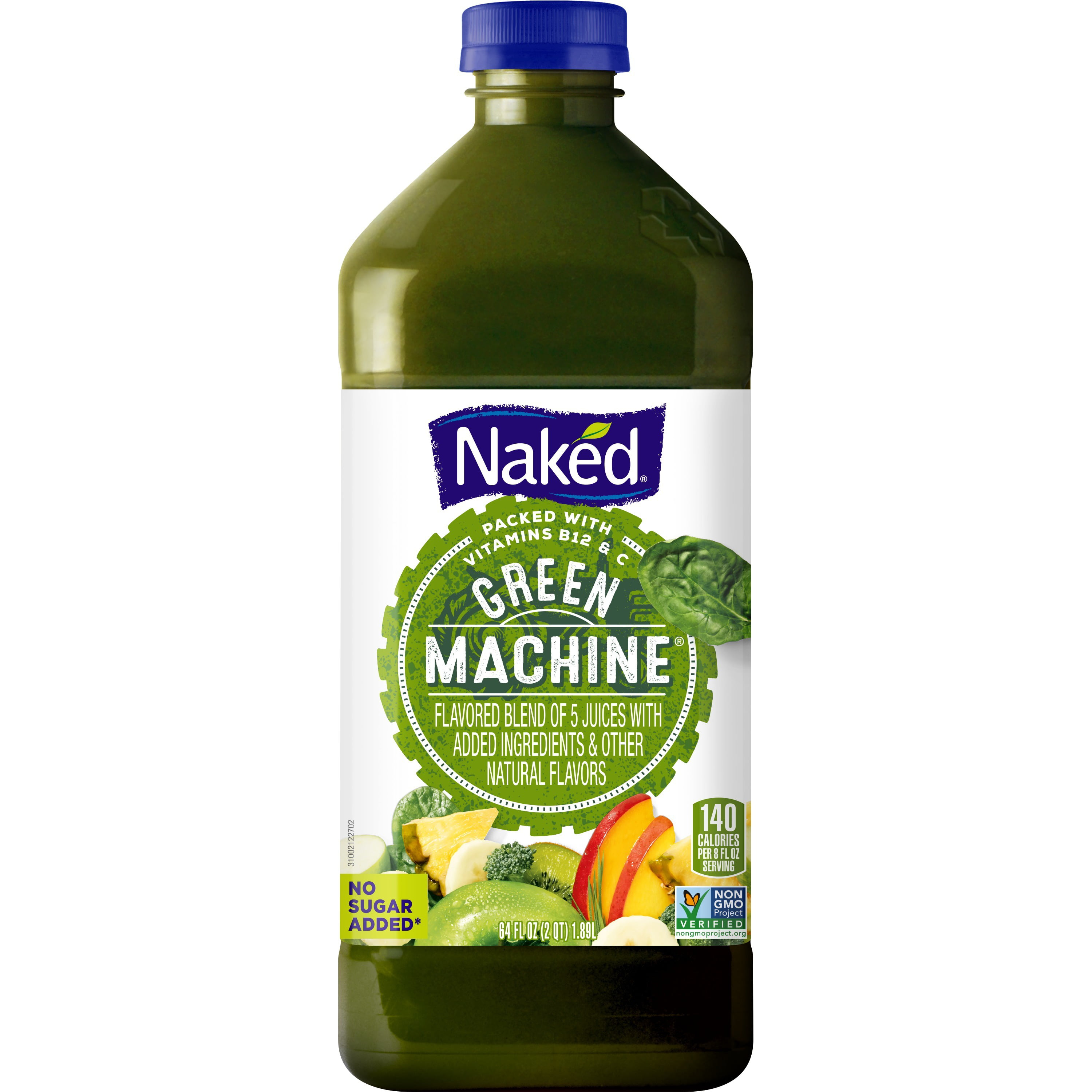 Naked Juice Boosted Smoothie, Green Machine, 64 oz Bottle ...