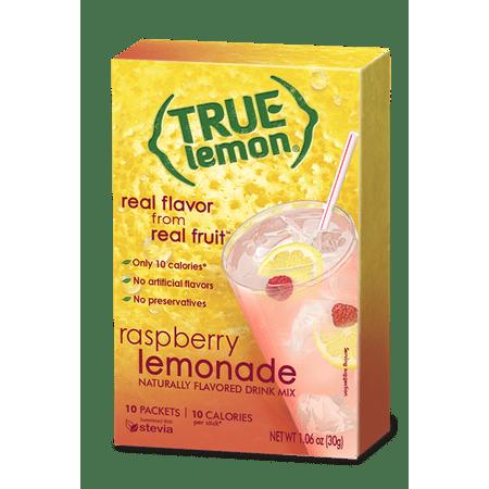 (12 Pack) True Lemon Drink Mix, 1.06 Oz, Raspberry, 10 Packets, 1 Box