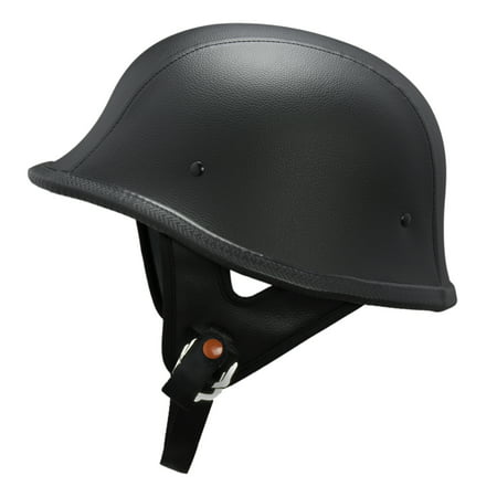 - Lunatic German Style Shorty Helmet - DOT Approved - Adult Motorcycle Half Helmet