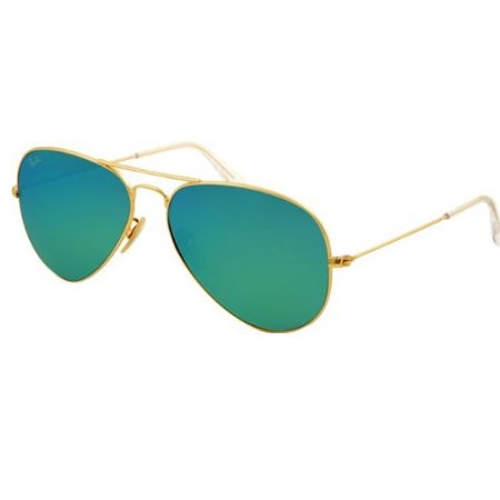Ray-Ban 58mm Large Aviator Sunglasses (Gold Frames/Mirrored Blue Lenses)