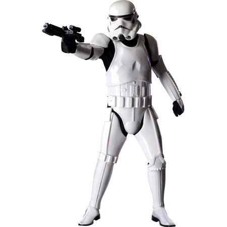 Stormtrooper Supreme Edition Adult Halloween Costume - One Size Up to 44 - Light Up Halloween Costumes For Adults