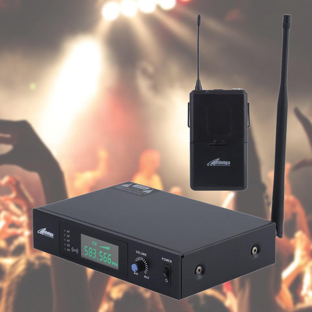 RADIGS RWM60U UHF Headset & Guitar Instrument Wireless Microphone System by
